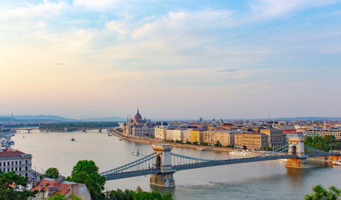 The skyline of Budpapest, Hungary during a summer day