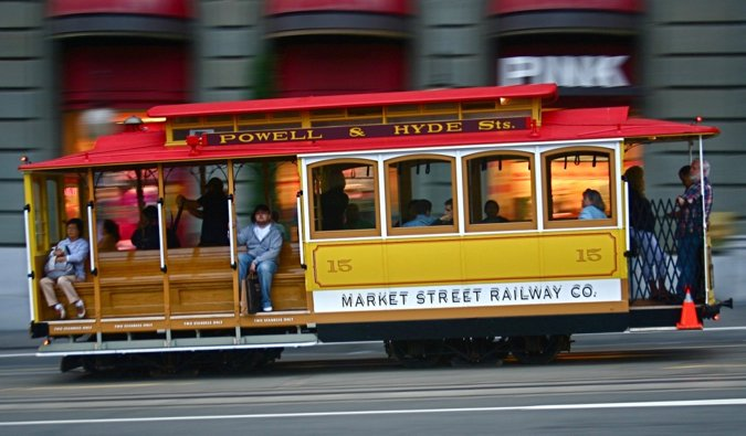 The famous streetcars of San Francisco, USA