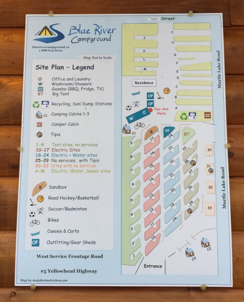 Blue River Campground Map
