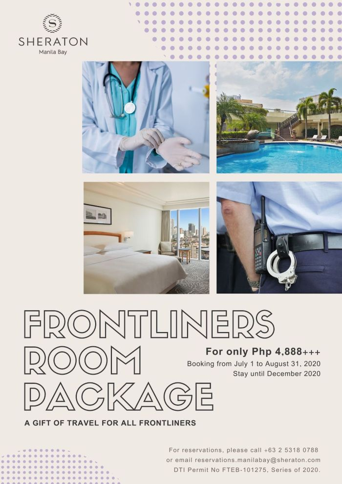 Sheraton Frontliners Room Package