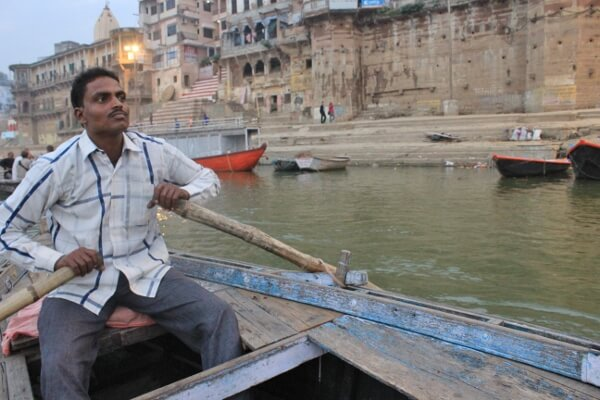 Rowing on the Ganges River