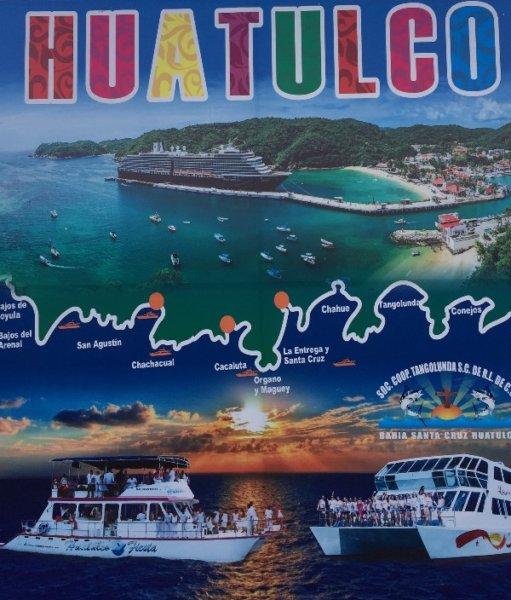 Huatulco Catamaran Bays Tour Poster