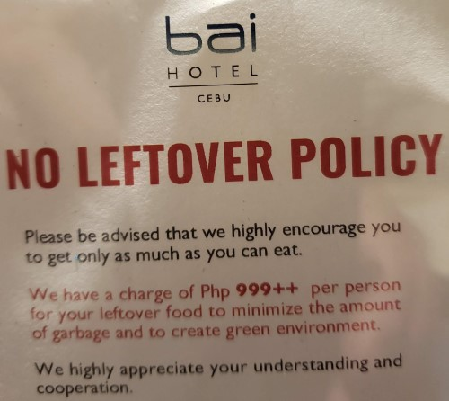 Bai Hotel Cebu Leftover Policy