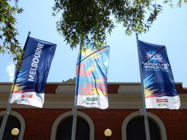Women's T20 World Cup Flags