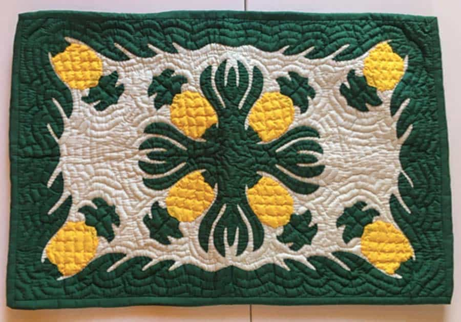 Hawaiian quilted placemats
